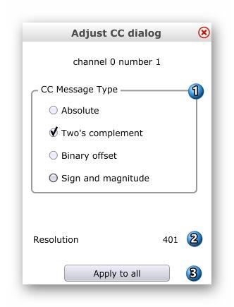Midi2LR Installation und Erste Schritte - Midi2LR_Mapping_Adjust_CC_dialog